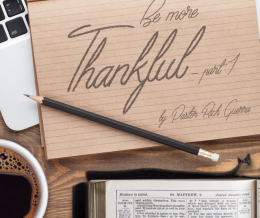 Be More Thankful – part 1