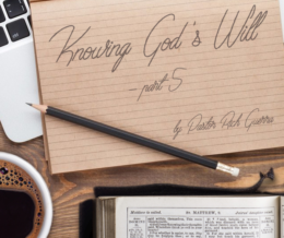 Knowing God's Will – part 5